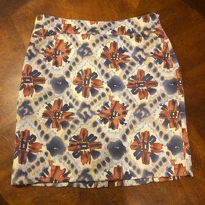 Banana Republic Floral Pencil Skirt Size 4